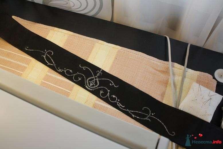 Пояс под грудью на св.платье, расшитый черными кристаллами - фото 85673 Julka
