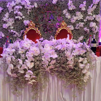 Оформление стола невесты и жениха