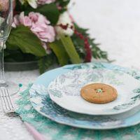 Оформление свадебной фотосессии. Мятно-розовая пуговичная свадьба