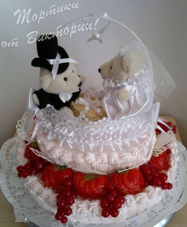 Свадебные торты ручной работы фото