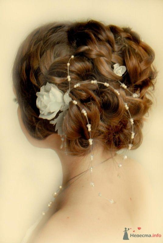 свадебная причёска с элементами плетения - фото 46420 Свадебный стилист Татьяна Мартынова