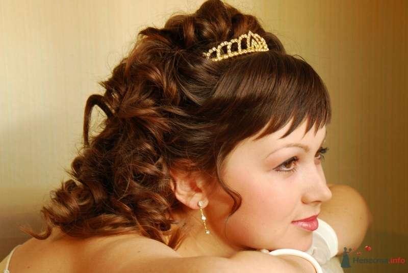 свадебная причёска с диадемой - фото 67056 Свадебный стилист Татьяна Мартынова