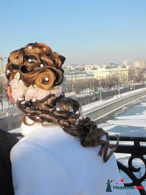 свадебная причёска  из длинных волос