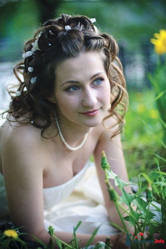 свадебная причёска на длинные волосы - фото 123376 Свадебный стилист Татьяна Мартынова