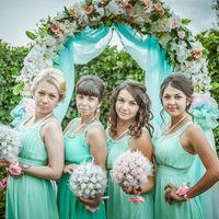 Подружки невесты в нежно-зеленом