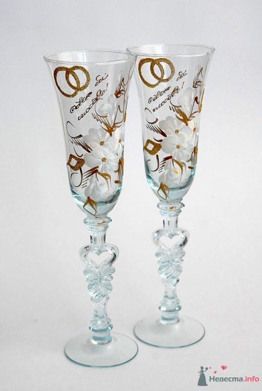 Свадебные бокалы стеклянные. Арт. 114-020
