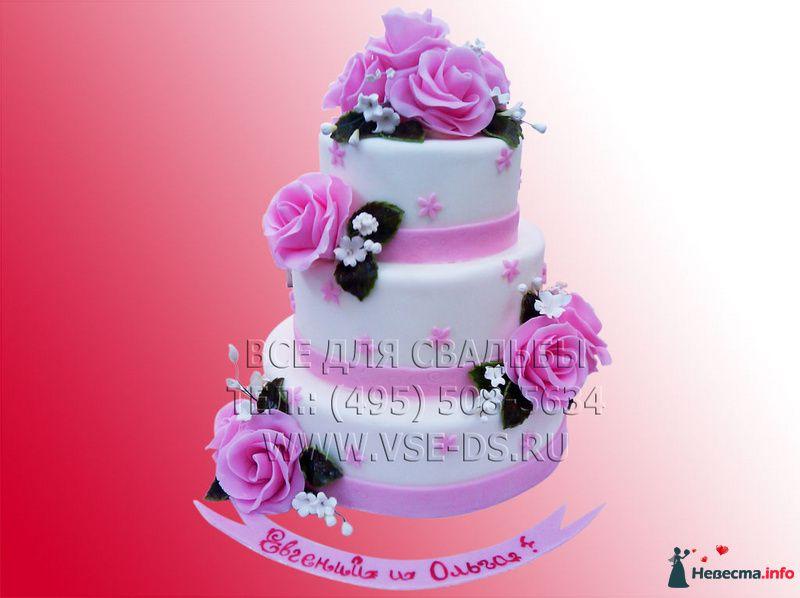 """Фото 81873 в коллекции Свадебные торты - """"Все для свадьбы"""" - салон аксессуаров и услуг"""