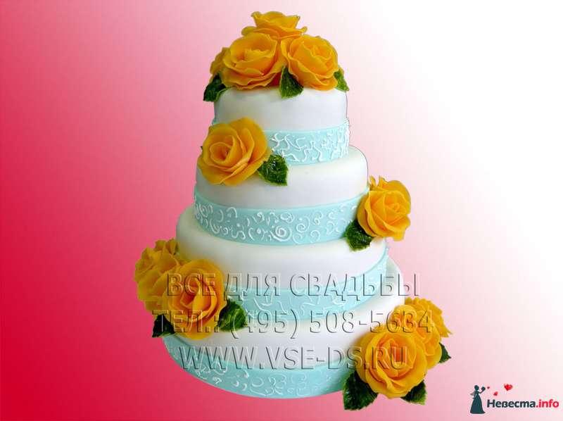"""Фото 81877 в коллекции Свадебные торты - """"Все для свадьбы"""" - салон аксессуаров и услуг"""