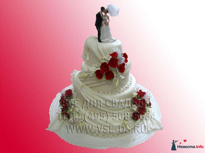 """Фото 99308 в коллекции Свадебные торты - """"Все для свадьбы"""" - салон аксессуаров и услуг"""