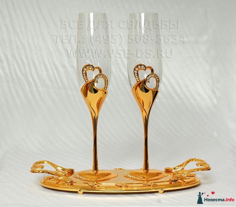 """Свадебные бокалы со стразами. Арт. 114-021 - фото 113705 """"Все для свадьбы"""" - салон аксессуаров и услуг"""