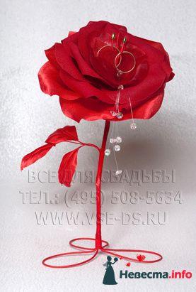 """Цветок для колец. Авторская работа. Арт.105-012 - фото 127856 """"Все для свадьбы"""" - салон аксессуаров и услуг"""