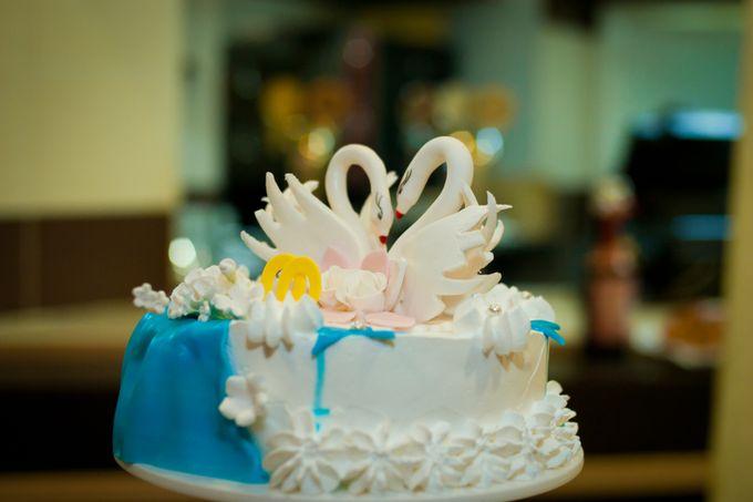 Оформление свадебных тортов фото одноярусных