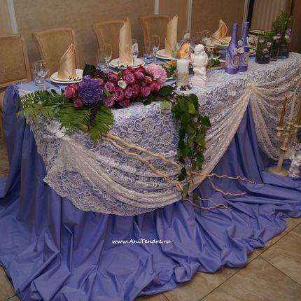 Декорирование стола молодожёнов