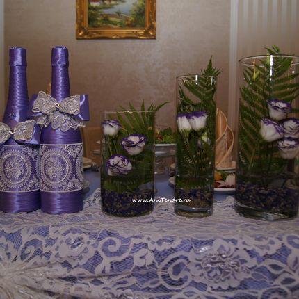 Цветы в вазах, цена за 1 композицию