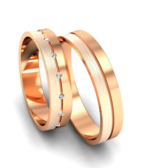 Обручальные кольца с 15 бриллиантами