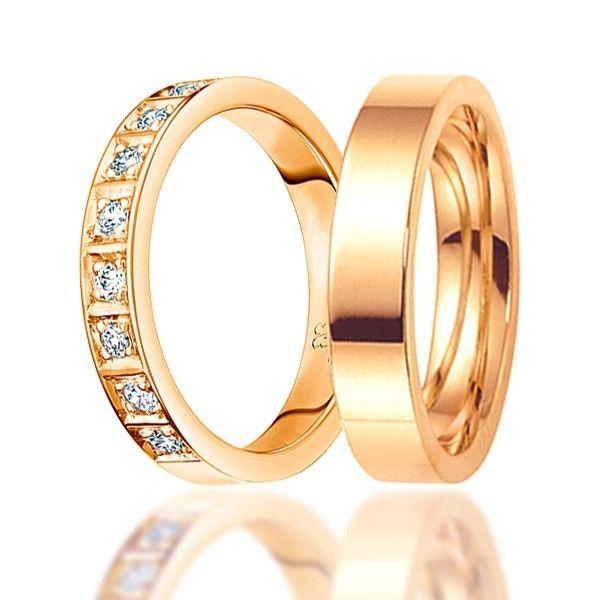 Обручальные кольца с бриллиантами. На заказ