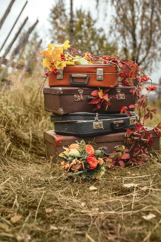 Планируешь свадьбу в 2018 году? Не знаешь как выбрать букет невесты? Я рада тебе в этом помочь!!! С огромным удовольствием создам букет твоей мечты!  Осенний букет и сопровождение фотосессии для прекрасной невесты Марии. - фото 16949228 Флорист Anna Zverkova
