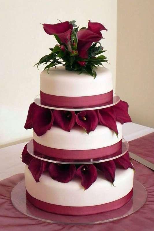 Фото 16473174 в коллекции Торты в Бордовом цвете - Свадебное агентство Monte Carlo