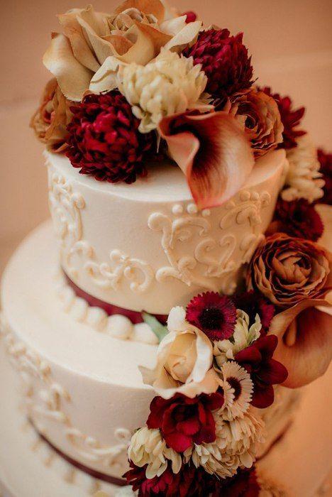 Фото 16473198 в коллекции Торты в Бордовом цвете - Свадебное агентство Monte Carlo