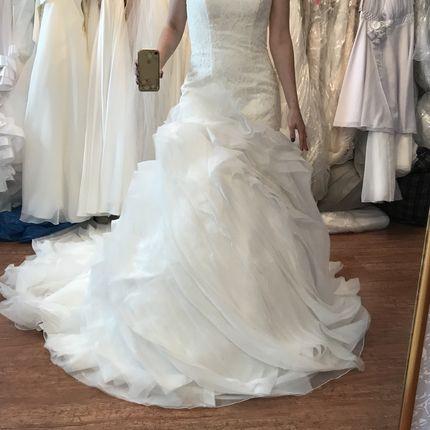 Новое свадебное платье рыбка со шлейфом