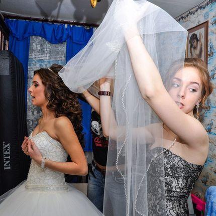 Утренние сборы невесты