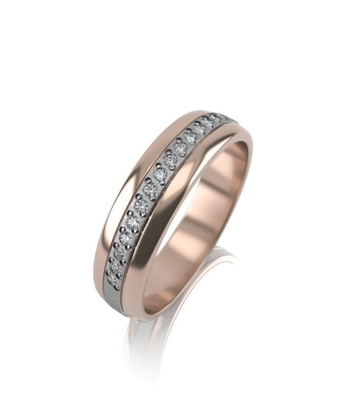 Эксклюзивное кольцо с плетением из 15 бриллиантов