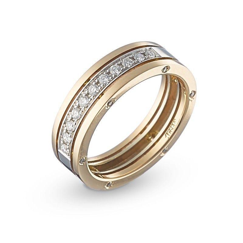 Обручальное кольцо в стиле BVLGARI