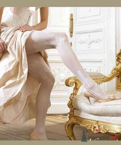 """Красивые белые колготы с узорами для невесты на свадьбу - фото 1822 Сеть супермаркетов белья и колготок """"Стильпарк"""""""
