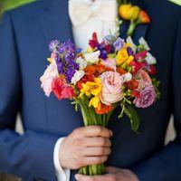 Яркий, летний, невероятно красивый букет невесты.