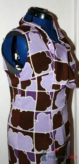 Шелковое платье на подкладке (сидит очень мягко и живо за счет эластана в крепдешине и в подкладке) - фото 50193 Белошвейка