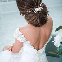 Прическа, макияж, заколка: Арина Курбатова |   Фотограф: Светлана Константинова |  Невеста: Вероника |  Свадебные платья: Пион |