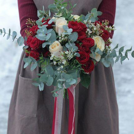 """Букет невесты """"Зимняя вишня"""""""