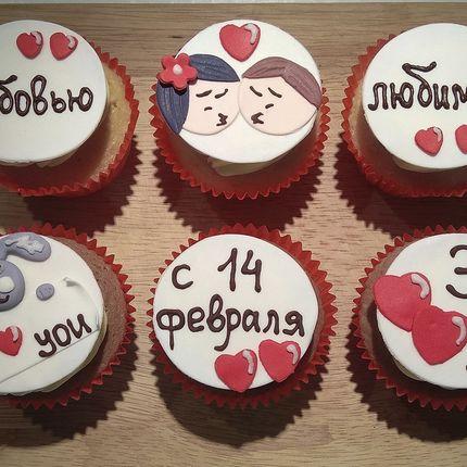 Капкейки на 14 февраля - день влюбленных
