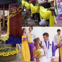 Желто-фиолетовое оформление