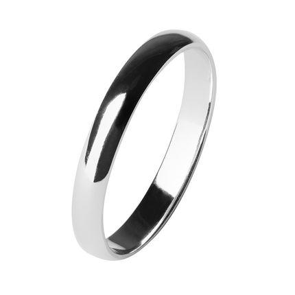 Обручальное кольцо из платины, облегченное 3 мм