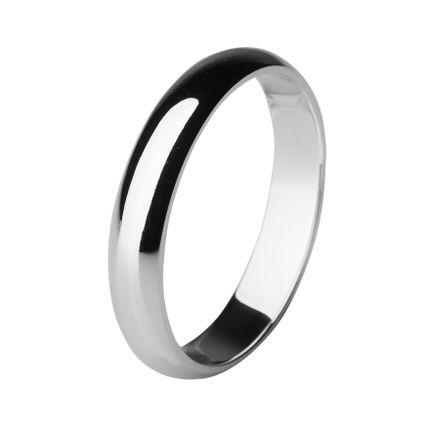Обручальное кольцо из платины, округлое 4 мм