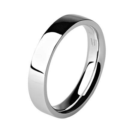 Обручальное кольцо из платины, плоское 5 мм