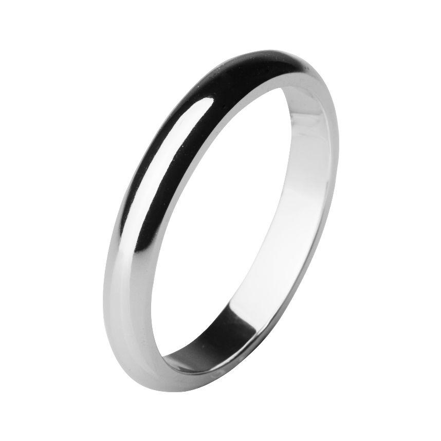Обручальное кольцо из палладия шириной 3 мм
