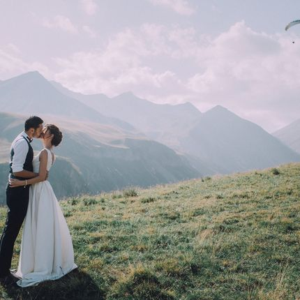 Организация символической церемонии в горах