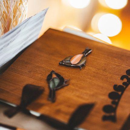 Обложка из шпона для книги пожеланий