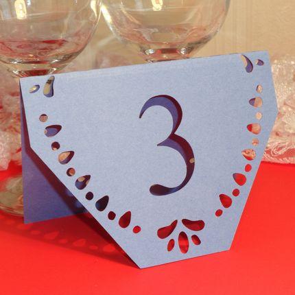 Номер для стола Резной 1