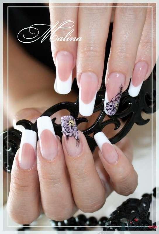 акрил, паталь, акварель - фото 47103 Наращивание ногтей - частный мастер Malina