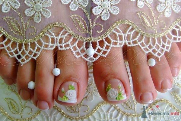 ножки невесты - фото 47112 Наращивание ногтей - частный мастер Malina