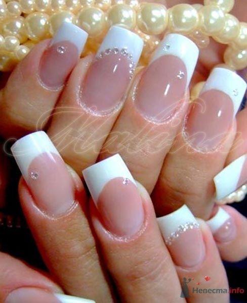 инкрустация цирконами - фото 47114 Наращивание ногтей - частный мастер Malina