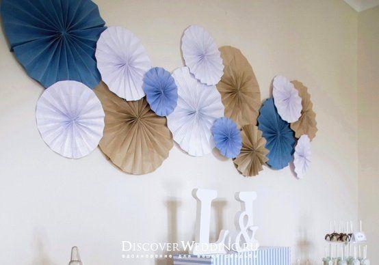 Зонтики на стену из бумаги своими руками 42