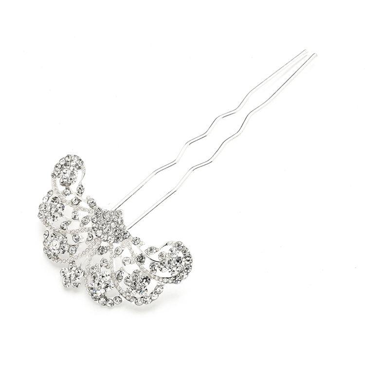 Роскошная шпилька с австрийскими кристаллами в стиле 20-х годов - фото 2311040 ARAMMU -интернет-магазин свадебных украшений