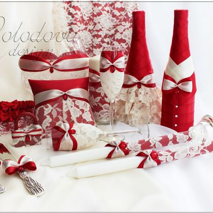 Свадебный комлпект Феерия в красном