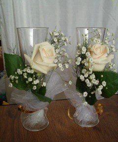 Фото 2587525 в коллекции свадебные бокалы - Цветочный магазинчик - услуги оформления