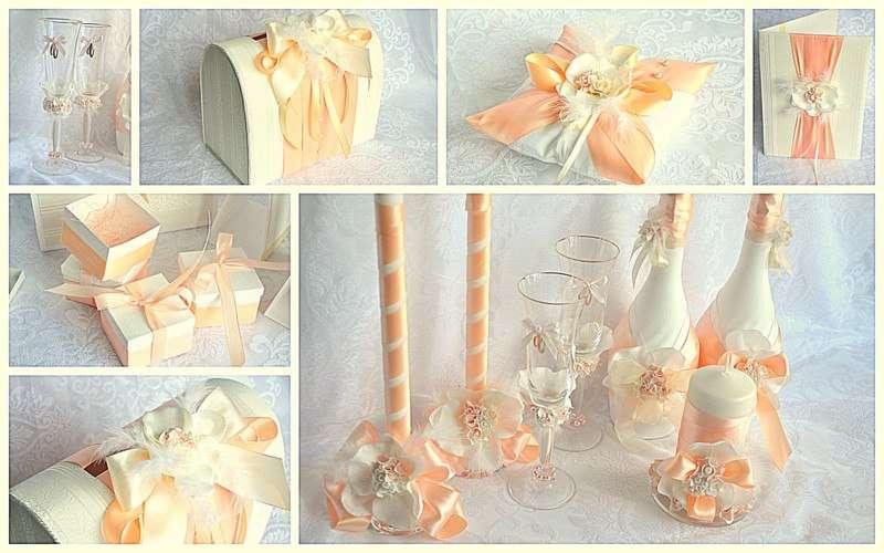 Свадебные аксессуары своими руками в персиковом цвете 39
