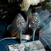 свадебные туфли цвета морской волны